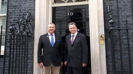 Cambs police and crime commissioner Jason Ablewhite was at No 10 this week to meet with other police