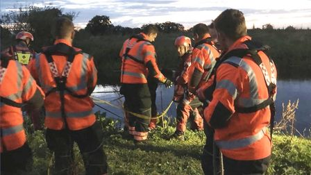 A horse had to be rescued after it got stuck in the river at Sutton Gault near Ely. Picture: CAMBS F