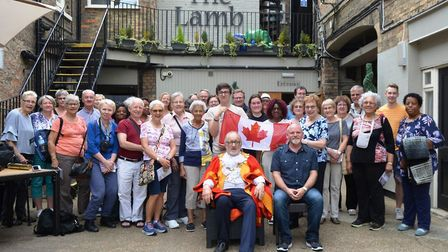 Choristers from the church of St Bride in Ontario have been welcomed into Ely ahead of their birthda
