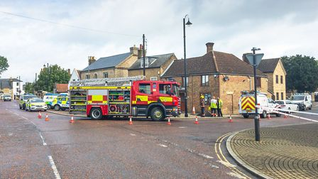 """Emergency services were called to Chatteris this morning (Friday August 9) after a """"small explosion"""""""