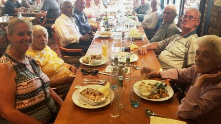 A summer trip involving lunch and a tour of gardens was held by the Isle of Ely Society for the Blin