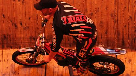 Alex Fox, an international motorcycle stunt rider from Wilburton, will be attempting a world record