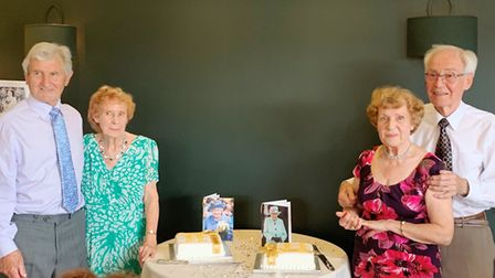 It was a double diamond wedding anniversary for two sisters from Soham who celebrated 60 years of ma