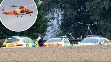 The scene on Ibbersons Drove in Benwick were a motorcyclist was killed yesterday evening (August 14)