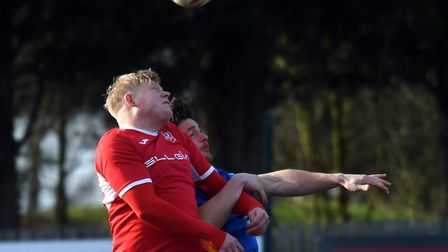 Steve Holder scored both Ely City goals in the FA Cup win at Potton. Picture: IAN CARTER