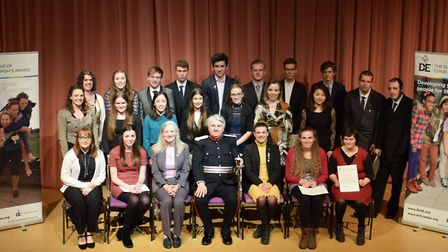 Cambridgeshire's Duke of Edinburgh Gold Award winners at a ceremony earlier this year. Picture: CONT