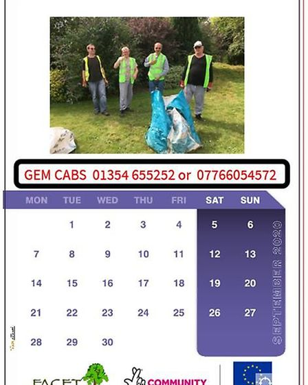 Students from March-based special needs college FACET have launched their own charity calendar. Pict