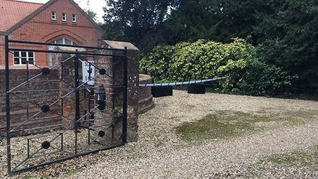 A property in the Saling Grove estate was cordoned off this morning. Picture: ARCHANT