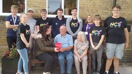A group of 10 students from Chatteris created a stylish outfit for £5 in aid of charity. They presen