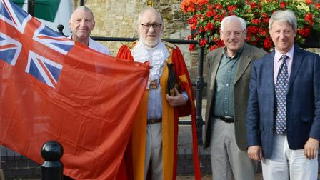 Ely remembers servicemen on Merchant Navy Day. Picture: MIKE ROUSE