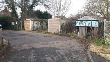 Former sewage treatment works in Front Row, Murrow, suitable for garage/parking/amenity use. One of
