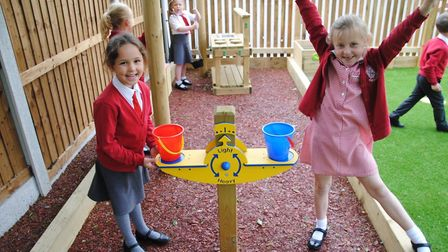 Thaxted Primary School pupils enjoying their playground. Picture: CONTRIBUTED