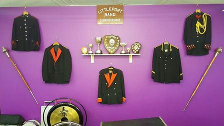 Littleport Brass bandroom gets a makeover. Uniforms, maces and trophies. Picture: LYN GUEST-DE SWAR