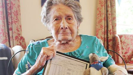 It was a special day at The Gables for one of their residents, Eileen Jenkins, as the home celebrate