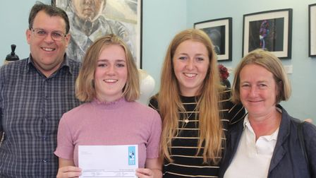 King's Ely students pictured with their A-Level results. Picture: JORDAN DAY/KING'S ELY.