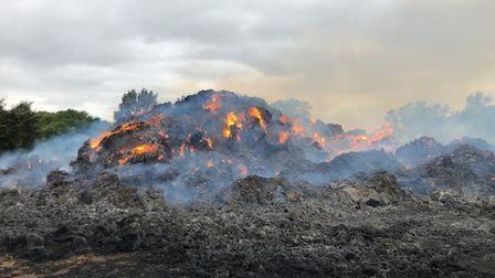 More than £50,000 worth of damage has been caused in a deliberate stack blaze in Haddenham. Picture: