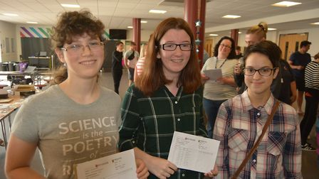Pupils at Ely College have opened their GCSE results and 59 per cent of students achieved grades 4-9