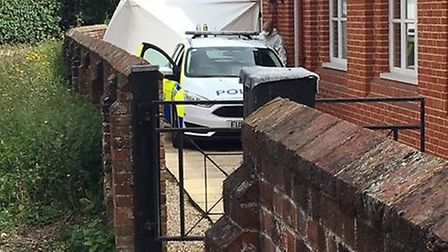 A property in Great Saling was cordoned off last week. Picture: ARCHANT