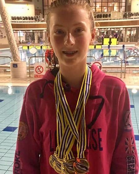 Rebecca Johnson was swimmer of the year for Dunmow Atlantis