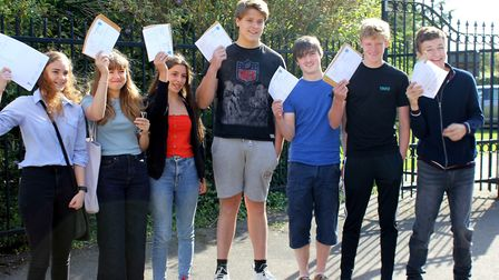 Pupils at Soham Village College opening up their GCSE results on Thursday, August 22. Picture: Suppl