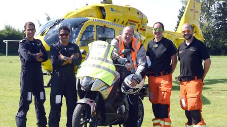 Dozens of bikers put on their leathers in scorching heat to raise more than £18,000 for a charity ri