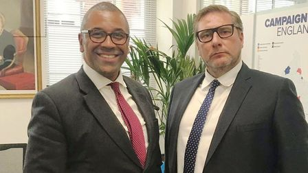 Mayor James Palmer (right) posted this photo of him with MP James Cleverly, the new chairman of the