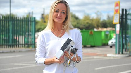 Debbie Diablo-Smith (pictured) accidentally threw her Nintendo Wii games console in the tip with som