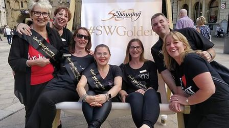 Slimmers from across Cambridgeshire turned out in force when Slimming World's golden 50th birthday b