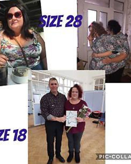 Pictured is Sharon Wilding. Super slimmers from March have opened up about their weight loss journey