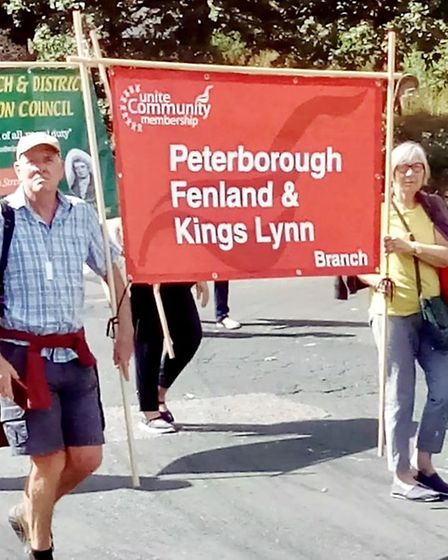 Trade unionists from Fenland took their banners to an annual rally at the weekend. Picture: NICK WIL