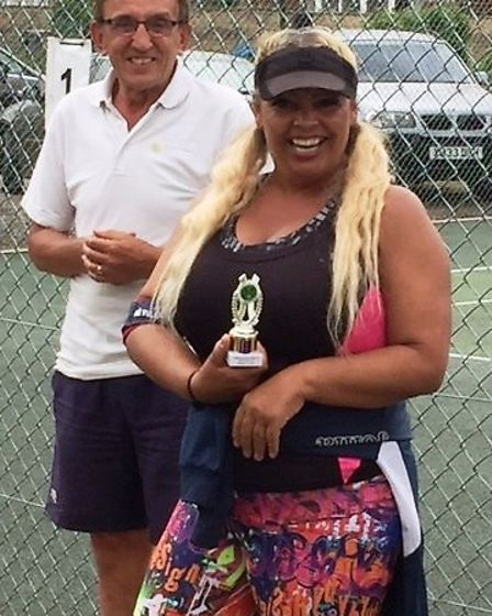 Members of the Chatteris Tennis Club at the Rickwood Cup Mixed Doubles Tournament. Picture: Supplied