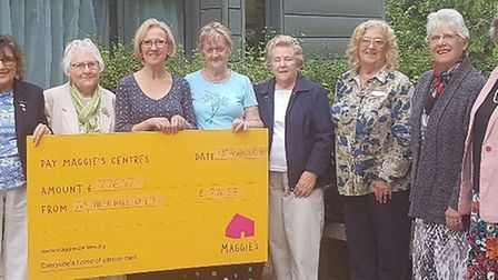 Members of the Ely Inner Wheel club have raised £776.57 for the Maggie's Centre charity. The group i