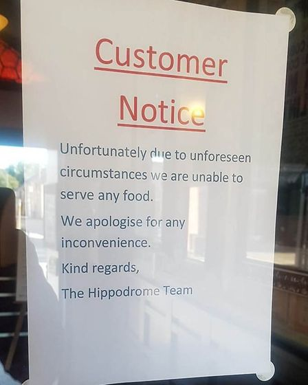 The Hippodrome in March has stopped serving food today (August 23). Picture: Archant / Facebook / FI