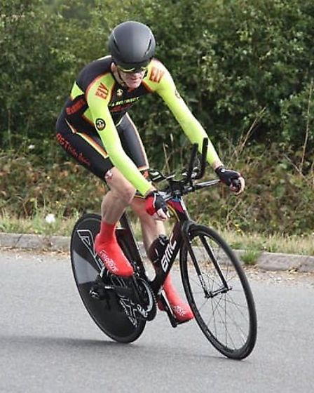 Martin Holmes in the VC Baracchi 50 mile time trial. Picture: DOMINIC AUSTIN.