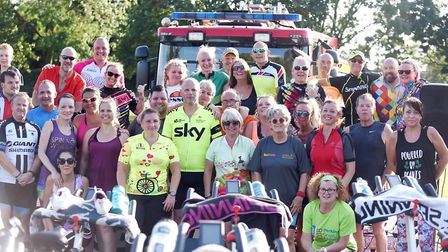 Forty riders in Fenland took on a spinning class as the sun went down to raise money for Magpas Air