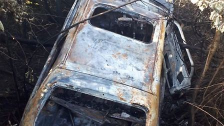This car was found on fire in a ditch in Doddington overnight on Saturday (August 17). Cambs Fire sa