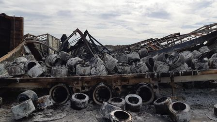 Five teenagers have been arrested on suspicion of arson following a blaze at Hotpoint in Peterboroug