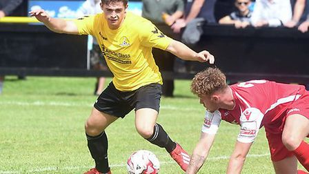 Hares hotshot Jack Friend struck twice against former club Wisbech St Mary. Picture: IAN CARTER