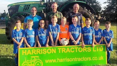 A smart new kit has been presented to the March Park Rangers U9's for the new season. Picture: Linds