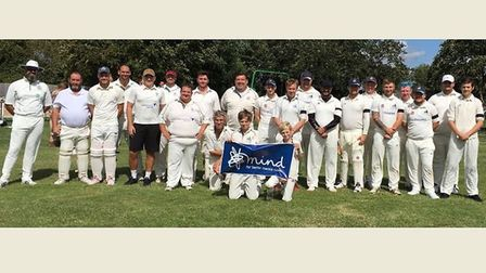 A charity cricket match raised more than £500 for people struggling with mental health. Picture: ANG