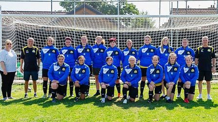 Stylish new training jackets were presented to the March Town Ladies for their new season. Picture: