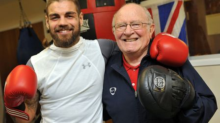 Tyler Goodjohn will have Mike Sawyer in his corner for his big fight. Picture: KATH SANSOM