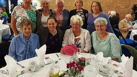 Contingent of volunteers from Chatteris at the Anglia in Bloom awards ceremony in St Ives. Picture;