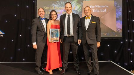 Small Business of the Year Winner Tela Ltd at the Uttlesford Business Awards 2019. Picture: DANNY LO