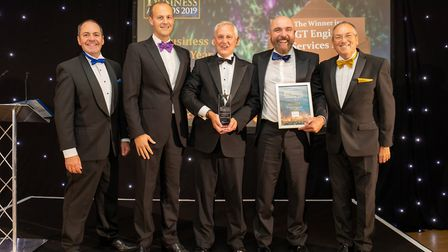 Business of the Year Winner GT Engine Services Ltd at the Uttlesford Business Awards 2019. Picture: