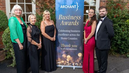 Guests arrive at the Uttlesford Business Awards 2019. Picture: DANNY LOO