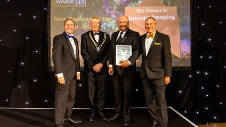 New Business of the Year Winner Inscope Imaging at the Uttlesford Business Awards 2019. Picture: DAN