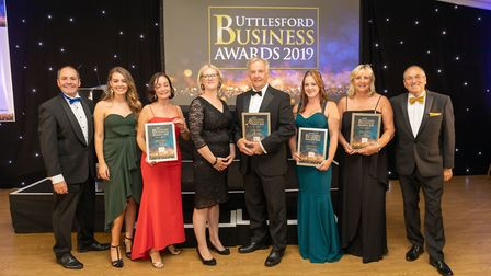 Business in the Community finalists at the Uttlesford Business Awards 2019. Picture: DANNY LOO