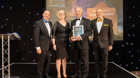 Business in the Community Winner Lodge Coaches at the Uttlesford Business Awards 2019. Picture: DANN