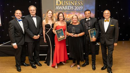 Employer of the Year finalists at the Uttlesford Business Awards 2019. Picture: DANNY LOO